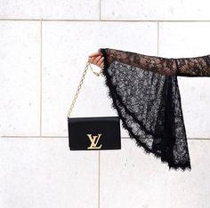 Bell sleeves and Yves saint Laurent bag