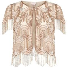 Miss Selfridge PREMIUM Embellished Fringed Cover Up (€140) ❤ liked on Polyvore featuring swimwear, cover-ups, nude, nude swimwear, cover up swimwear, fringe cover up, fringe swimwear and swim cover up