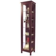 KYOTO - Solid Wood and Glass Display / Storage Unit - Wenge: Amazon.co.uk: Kitchen & Home