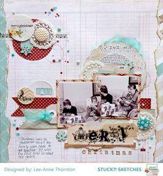 #Papercraft #Scrapbook #Layout.  Merry Christmas - Scrapbook.com