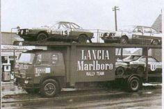Lancia Marlboro rally cars trtansporter. Tricycle, Sport Cars, Race Cars, Motor Sport, Course Automobile, Rally Raid, Car Carrier, Car Trailer, Auto Service