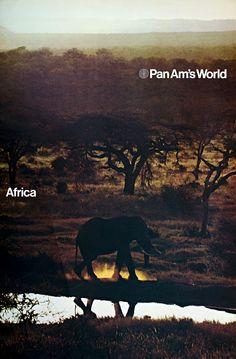 Pan Am's Africa #vintage #advertising #travel