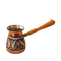Decorated Turkish Coffee Pot - Slavic Style