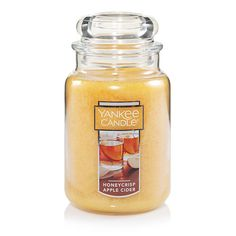 Honeycrisp Apple Cider Large Classic Jar Candles - Yankee Candle ... A scent that revives and relaxes—fresh Honeycrisp cider warming up a glass.  Fragrance Notes: Top: Honeycrisp Apple Mid: Apple Cider, Honey Base: Musk