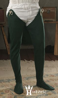 Chausses, Linen, pair - Click Image to Close