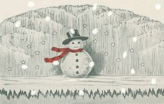 Original display idea from the Dennison Manufaturing Co.'s Christmas Book (1923).   #art #animation #gif #holidays #snow #winter #snowman #vintage