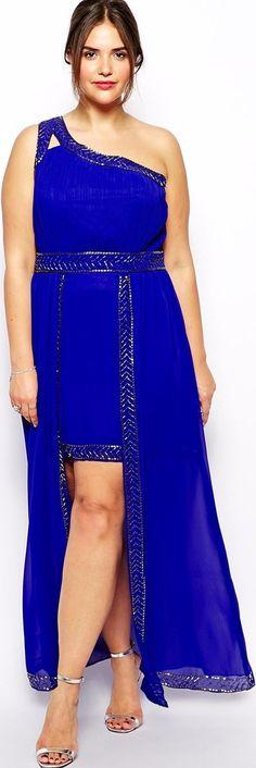 long short cobalt blue maxi mini asymmetrical neckline evening party  #plussize #maxi #dress -    http://www.boomerinas.com/2014/08/13/summer-dresses-and-tops-in-plus-sizes-2014-styles/