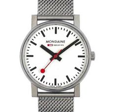 Buy Mondaine Unisex Evo Quartz Stainless Steel Bracelet Strap Watch, Silver/White from our Women's Jewellery & Watches Offers range at John Lewis & Partners. Stainless Steel Mesh, Stainless Steel Bracelet, Mesh Bracelet, Bracelet Watch, Latest Fashion Clothes, Watches For Men, Men's Watches, Quartz, Jewels