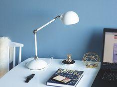 White Metal Desk Lamp Table Bedside Light Home Student Office Adjustable Arm New Floor Lamp, Room Lamp, Lamp, Bedside Lighting, Lamps Living Room, White Metal Desk, Cool Floor Lamps, Metal Desk Lamps, White Table Lamp