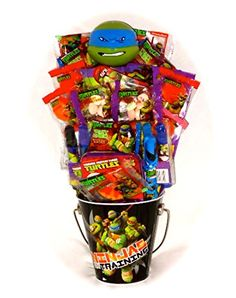 Teenage Mutant Ninja Turtles Tin Pail Gift Basket Great for Birthday, Easter Basket, Get Well or Thank You wrapnrave :) http://www.amazon.com/dp/B00IWA6QC6/ref=cm_sw_r_pi_dp_MZs2ub1H72TJ2