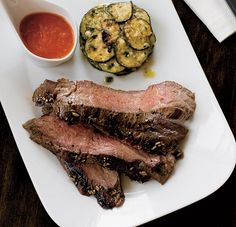 Flank Steak with Zucchini...low carb meal.....would really enjoy some of this now.