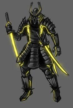 Tron - Clu Samurai by ~SuperKusoKao