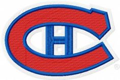 Montreal Canadiens hockey logo machine embroidery design $3 embroideres.com