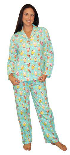 53b536309cdf PajamaMania Owls Blue Flannel Pajama Owl Clothes