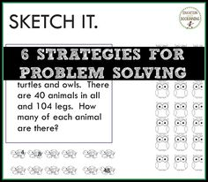 6 strategies for problem solving your students can use today.  Read the post or watch the video.