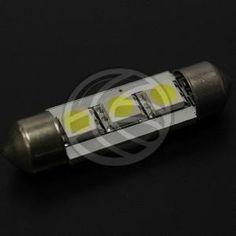 Bombilla coche LED festoon C5W 3x5050SMD 39mm  www.cablematic.es/producto/Bombilla-coche-LED-festoon-C5W-3x5050SMD-39mm/