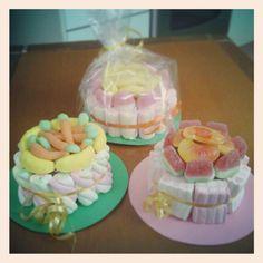Mini torte di caramelle, compleanno Matteo, ottobre 2013