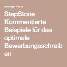 StepStone Kommentierte Beispiele für das optimale Bewerbungsschreiben