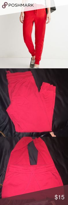 Red joggers Sweatpant joggers. Size medium. Elastic waistband and stretchy. Lightly used. Forever 21 Pants Track Pants & Joggers