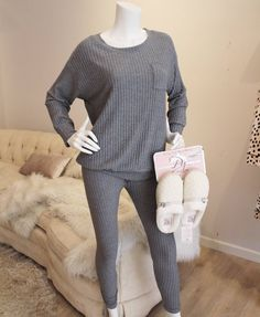 Just arrived #jammies from @eberjey!  Lush ribbed fabric warms the skin and begs to be touched with its softness.  Just what you want to curl up in on cozy nights and days lounging around the house.  We have only mediums and larges left - shop with us before more sizes sell out! (And bonus: it's also available in black. Sizes M & L only.)   #giftsforher #cozynights #pajamaparty #downtownfairhope #plaidfriday #loungelove #loungelife #eberjey #cozy #fireside #tldfairhope