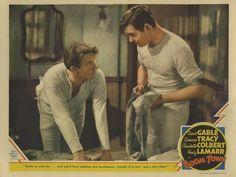 """Spencer Tracy y Clark Gable en """"Fruto Dorado"""", 1940"""