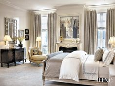 Get inspired by Traditional Bedroom Design photo by Jessica Lagrange Interiors. Wayfair lets you find the designer products in the photo and get ideas from thousands of other Traditional Bedroom Design photos. Beautiful Living Rooms, Beautiful Bedrooms, Dream Bedroom, Home Decor Bedroom, Bedroom Ideas, Bedroom Designs, Pretty Bedroom, Bedroom Images, Decor Room