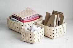How to weave a basket of veneer