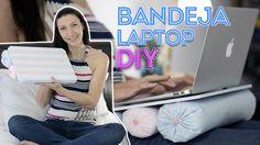 Aprenda a fazer uma mesinha / bandeja, para notebook, com MDF, tecido e tinta spray. Veja mais no blog Tu Organizas- www.tuorganizas.com
