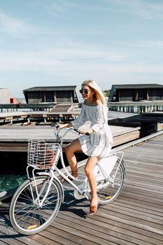Riding bikes in the Maldives. @AspynOvard