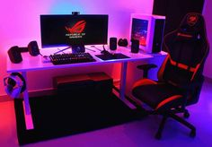 "1,394 curtidas, 14 comentários - • Computer Builds and Setups • (@pc.media) no Instagram: ""Smooth blues and deep reds, @95rx has done a phenomenal job making sure his build is sleek and…"""
