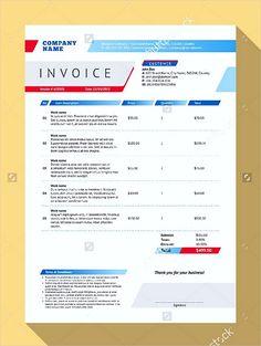 Printable Blank Invoice Templates  Blank Invoice Template Pdf