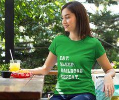 Eat Sleep Railroad Short sleeve women's t-shirt