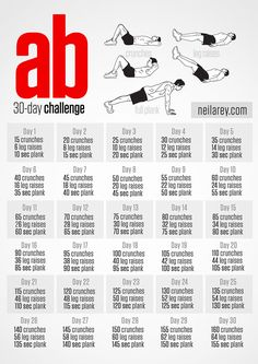 This website has a whole series of workouts without equipment that you can challenge yourself to. Pinterest@Sagine_1992Sagine
