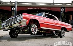 """Continuing on our theme of the most iconic songs of their generation which capture the excitement and passion of car ownership. In 1975 the band War wrote a song called """"Low Rider"""" produced by Je. Chevy Ss, Chevrolet Chevelle, Impala 64, Hydraulic Cars, Car Tattoos, University Of Louisville, Chevy Trucks, Lowrider Trucks, Easy Rider"""