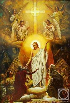 """Kozlov Jacobus. """"The Descent of Christ into Hell"""" icon"""