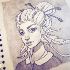 Friday night sketch :-) #art #drawing #sketchbook #instaart #artofinstagram #portrait #face #improvement #photoshop #painting #progress #pencildrawing #artofinstagram