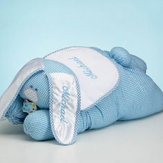 Personalized Baby Bunny Blanket Set: Baby Gifts Sets