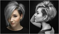 If you are ready for a new haircut then you should definitely give short haircut styles for women a try and you may be surprised at how many heads you turn with your new short hairstyle. Haircut Styles For Women, Short Haircut Styles, Short Styles, Pretty Hairstyles, Bob Hairstyles, Short Hairstyle, Pelo Color Plata, Haircut And Color, Hair 2018
