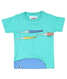 Green short sleeve kids T shirt with whale and octopus.  100% soft organic cotton. Includes packaging which makes this tee a great gift!  Unisex regular fit.  PIPI & PUPU kids(art)wear - Playful quality organic cotton for kids  Illustrators are our heart and soul!  All of our prints ha...