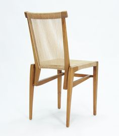 Irving Sabo; Walnut and Cord 'String' Side Chair for J.G. Johnson Furniture Company, 1953.