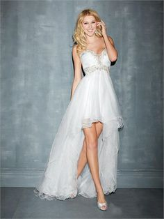 High Low Sweetheart Appliques Beadings Layered Tulle Prom Dress
