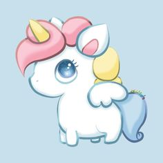 Check out this awesome 'Chubby+Unicorn' design on Unicorn Painting, Unicorn Drawing, Pony Drawing, Unicorn Art, Cute Unicorn, 365 Kawaii, Kawaii Chibi, Kawaii Art, Unicorn Merchandise