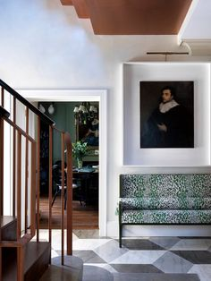 Entry and Hall in A West London House by Beata Heuman Ltd on Entry Stairs, Entry Foyer, Entryway Decor, Beata Heuman, Magic Garden, Eclectic Bathroom, London House, Foyer Decorating, West London