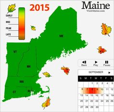 New England Peak Fall Foliage Forecast Map Yankee Foliage Your Source For New England Fall Foliage