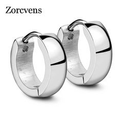 97b99a2b7 ZORCVENS Punk Gold Color Stainless Steel Stud Earrings Simple Style Circle Stud  Earring Fashion Earrings for Women Man Jewelry
