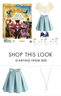 """Alice Through the Looking Glass"" by tessa-moon on Polyvore featuring Chicwish, Converse, contestentry and DisneyAlice"