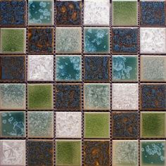 kids bathroom tile floor mosaics   ... Floor Tile Brick Square Crackle Glass Mosaic Tiles modern bathroom