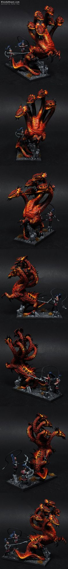 Dark Elves Fire War Hydra