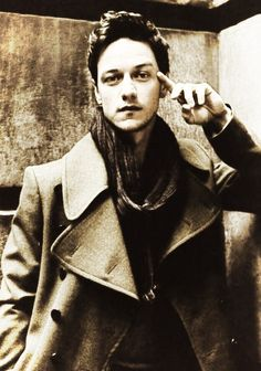 James MacAvoy - great coat and scarf