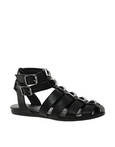 Buy ASOS FUSE Gladiator Flat Sandals at ASOS. With free delivery and return options (Ts&Cs apply), online shopping has never been so easy. Get the latest trends with ASOS now. Flat Gladiator Sandals, Closed Toe Sandals, Flip Flop Sandals, Flip Flops, Shoes Sandals, Studded Sandals, Asos, Footwear, Latest Clothes